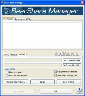 BearShare Manager Screenshot