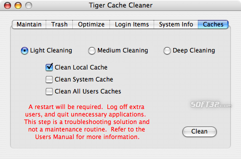 Tiger Cache Cleaner Screenshot 2