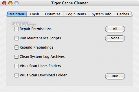 Tiger Cache Cleaner Screenshot