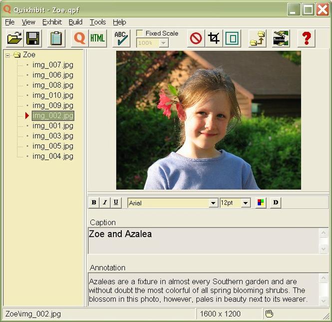Quixhibit Screenshot 1