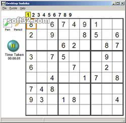 Deskop Sudoku Screenshot 2