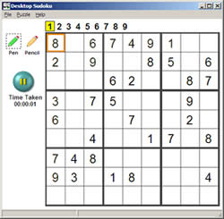 Deskop Sudoku Screenshot 1