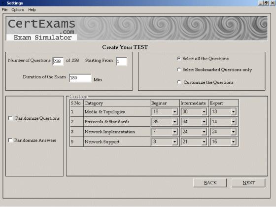 CertExams.com A+ OS ExamSim Screenshot