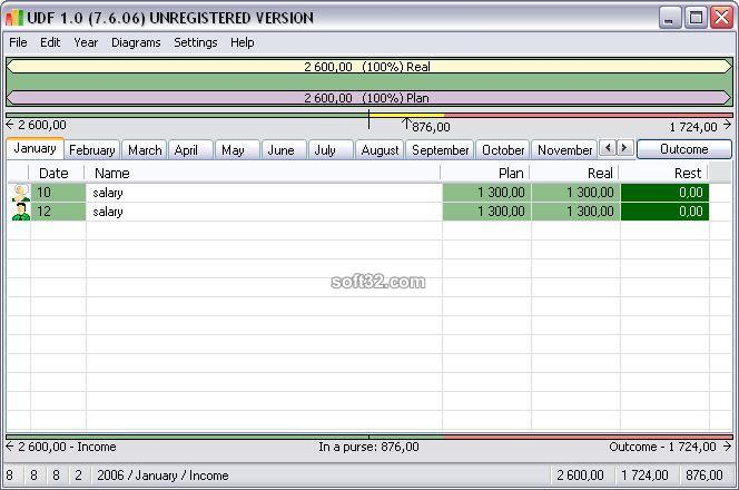 Home accounting UDF Screenshot
