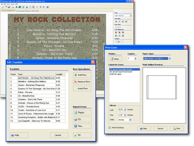 CD-Cover Editor Screenshot 1