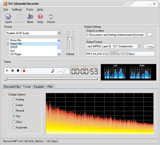 TEC Sound Recorder Screenshot