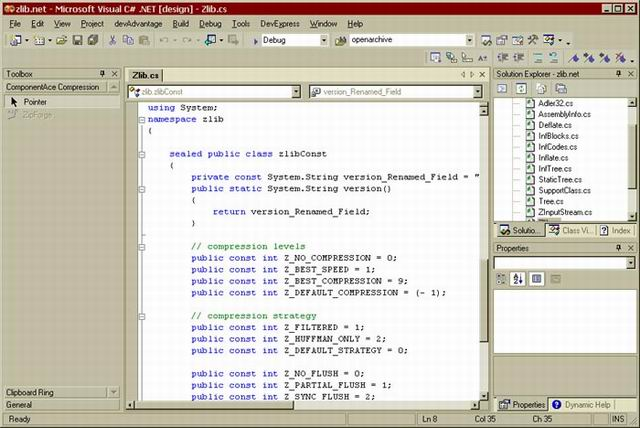 ZLIB.NET Screenshot