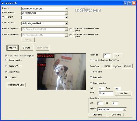 VISCOM Video Capture SDK ActiveX Screenshot