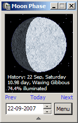 Moon Phase Calculator Screenshot