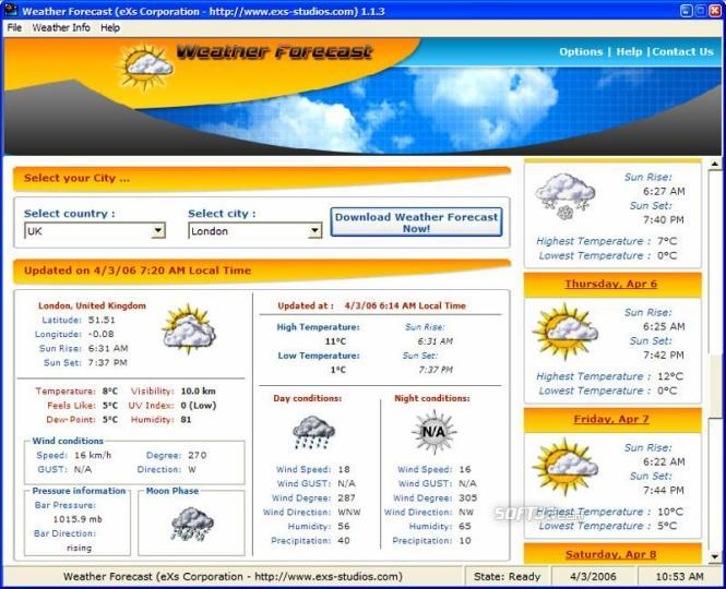 WeatherForecast Screenshot 3