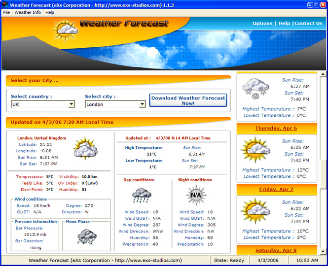 WeatherForecast Screenshot