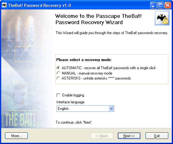 TheBat! Password Recovery Screenshot