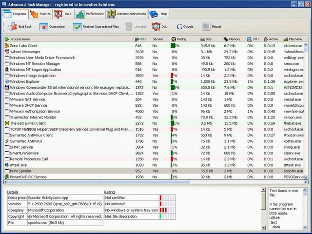 Advanced Task Manager Screenshot 1