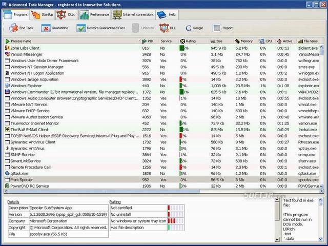 Advanced Task Manager Screenshot 2