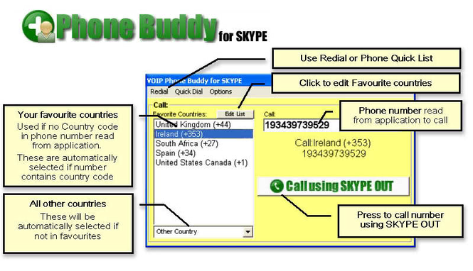 VOIP Phone Buddy for SKYPE Screenshot
