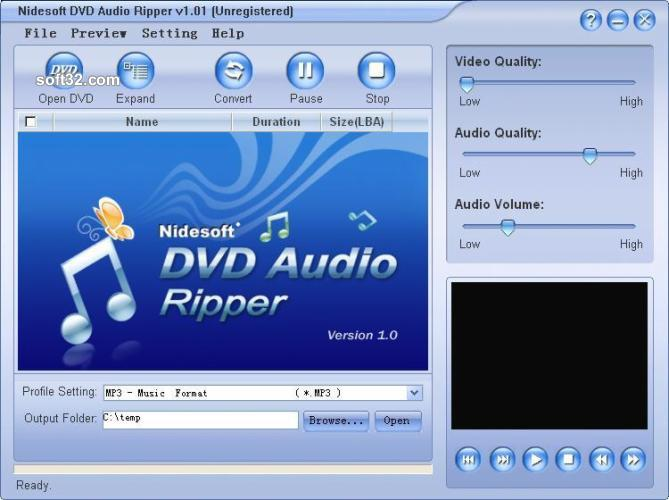 Nidesoft DVD Audio Ripper Screenshot 2