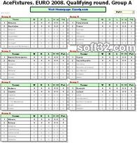 AceFixtures for EURO 2008 Screenshot 2