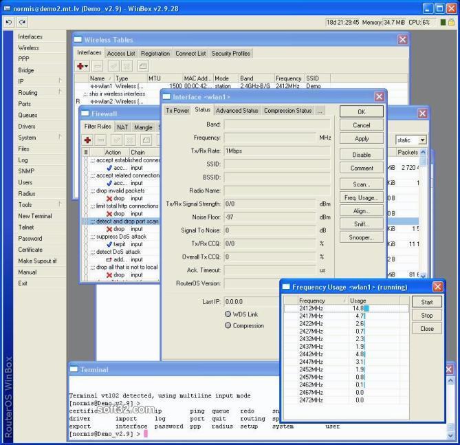 RouterOS Screenshot 2