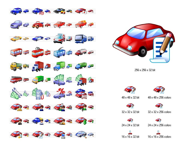 Car Icon Library Screenshot 1