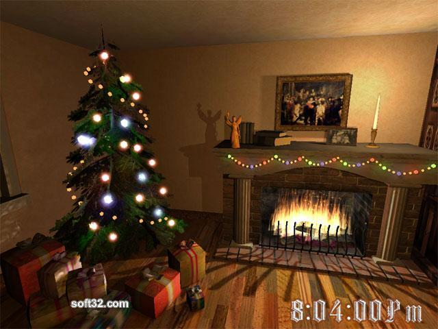 Christmas Fireplace 3D Screensaver Screenshot 2