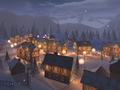 Winter Town 3D Screensaver 3