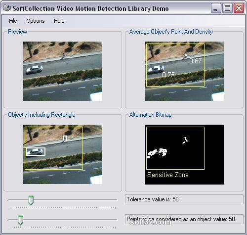 SoftCollection Video Motion Detection Library For .NET Screenshot