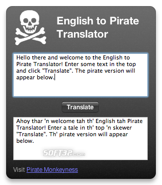 Pirate Translator Screenshot