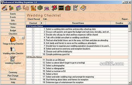 Advanced Wedding Organizer Screenshot