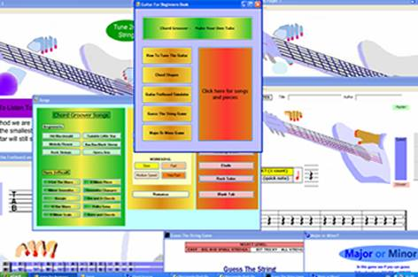 Guitar Learning Software Screenshot