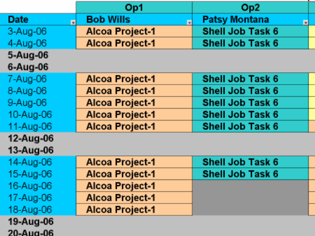 Schedule Equipment to Batch Jobs Screenshot