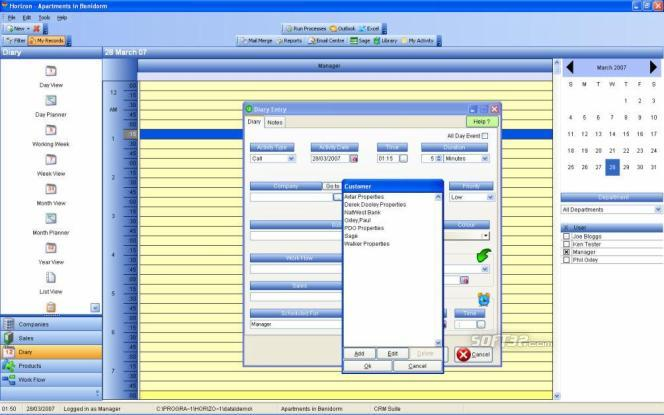 Horizon CRM Screenshot