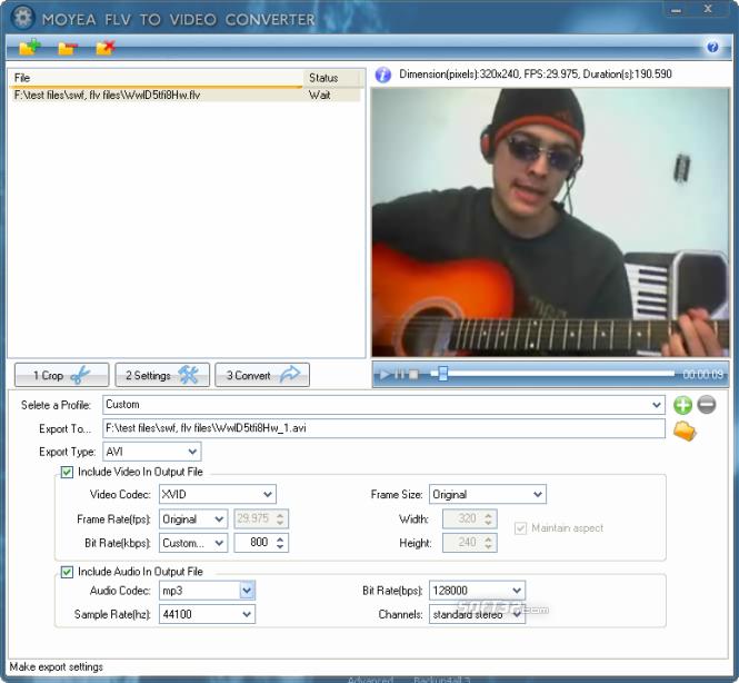 Moyea FLV to Video Converter Pro 2 Screenshot 2