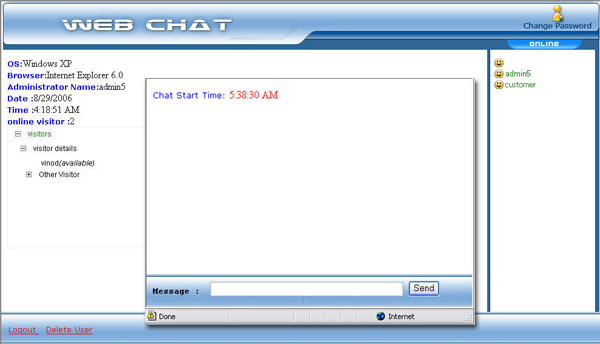 ASP Chat Script Source Code Screenshot