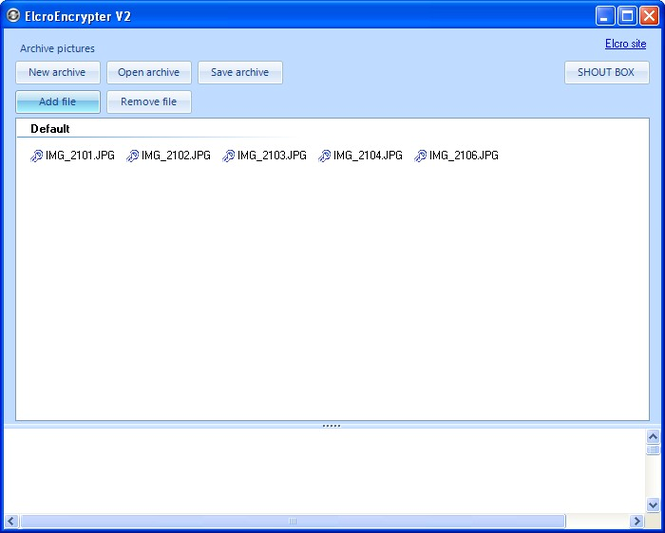 Elcro Encrypter Screenshot 1