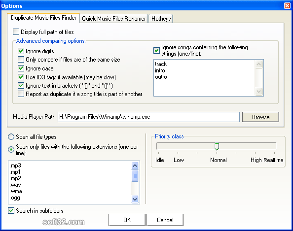 Duplicate Music Files Finder Screenshot 4