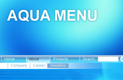 Aqua Flash Menu Screenshot