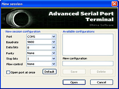 Eltima Serial Port Terminal Screenshot