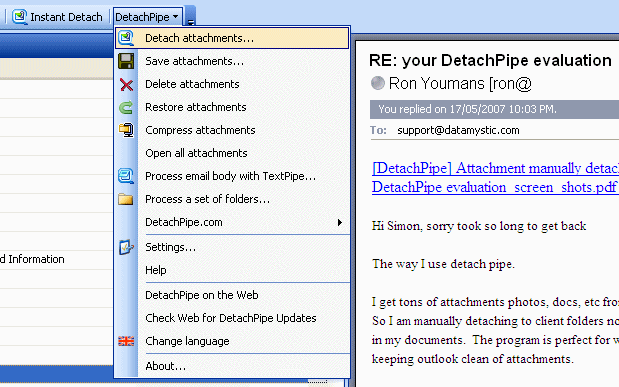 DetachPipe.com Server Screenshot