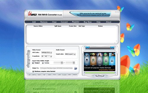 Apex RM RMVB Converter Screenshot 1