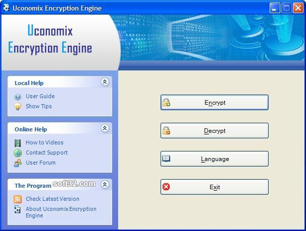 Uconomix Encryption Engine Screenshot 1