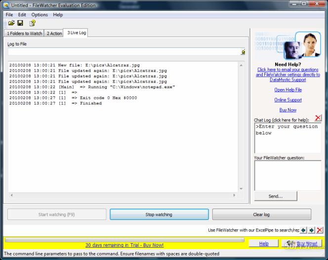 File and Folder Watcher Screenshot 2