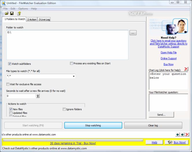 File and Folder Watcher Screenshot 4