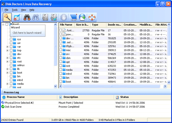 Disk Doctors Linux Data Recovery Screenshot