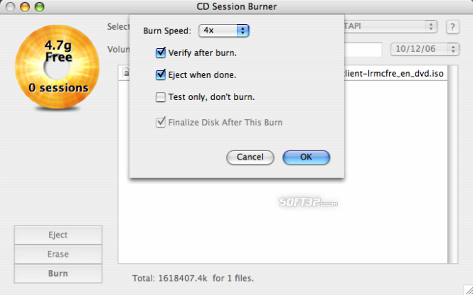 CD Session Burner Screenshot 5