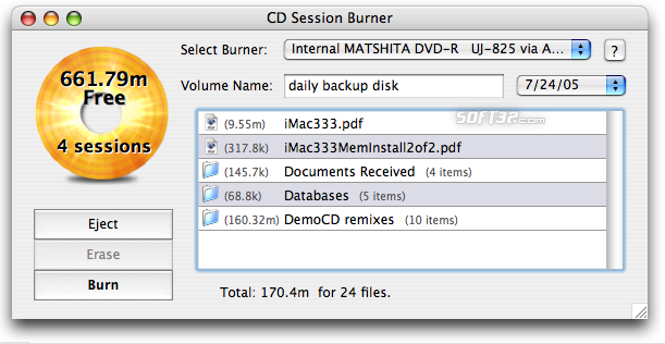 CD Session Burner Screenshot 1