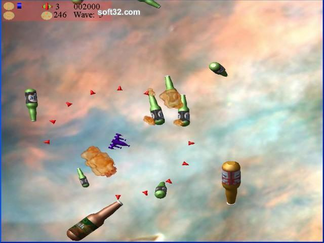 Beer Asteroids, Invaders, and Blaster Screenshot 2