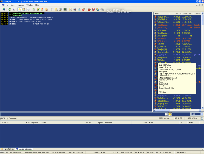 StrongDC++ Screenshot 2