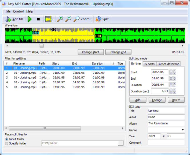 Easy MP3 Cutter Screenshot