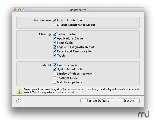 Maintenance Screenshot 1