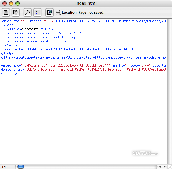 Creative Page Screenshot 2